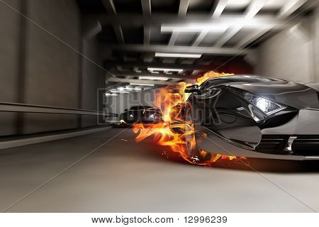 Hot car.  My own car design. Not associated with any brand.
