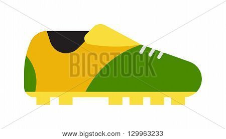 Football boots. Soccer boots isolated on white. football boots sport footwear and football boots leather team game equipment. Football boots sport, soccer and football boots equipment foot shoelace.