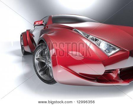 roten Sportwagen. mein eigenes Auto-Design. jede Marke zugeordnet.