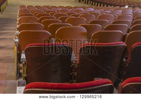 Rows Of  Crushed Velvet Seats