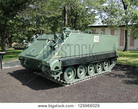 M113 armored personnel carrier. American armored personnel carrier which has been in use from Vietnam War era to present days.
