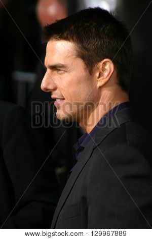 Tom Cruise at the Los Angeles premiere of 'Collateral' held at the Orpheum Theatre in Los Angeles, USA on August 2, 2004.