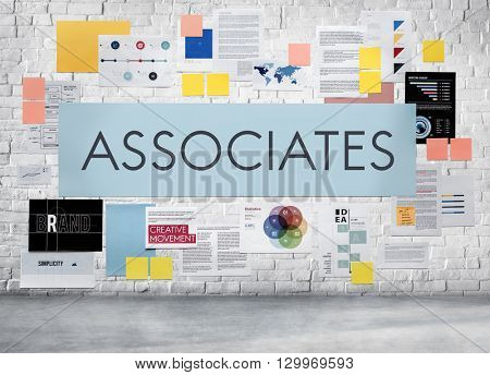 Associates Connection Corporate Teamwork Assistance Association Concept