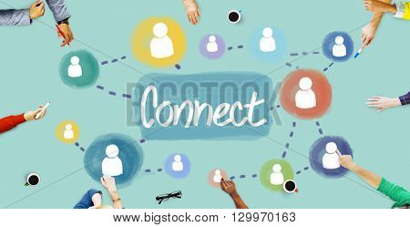 Connect Connection Connected Network Access Concept