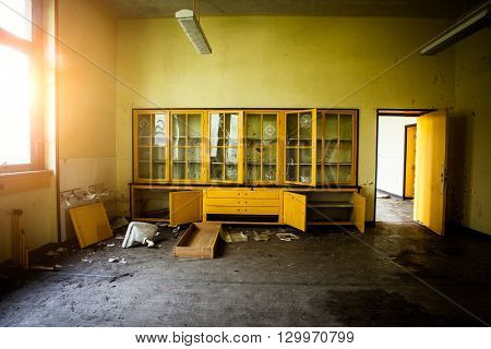 Abandoned Room With A Sideboard, Boarding House Urbex