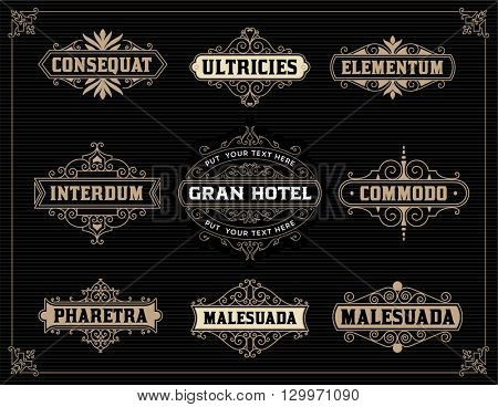 Vintage Logo Templates. Vector Illustration