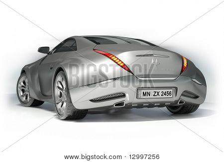 Sportwagen isolated on white Background. meine eigene Auto-Design. Logo auf dem Auto ist frei erfunden.