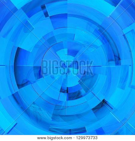 abstract blue background of the rectangles and lines