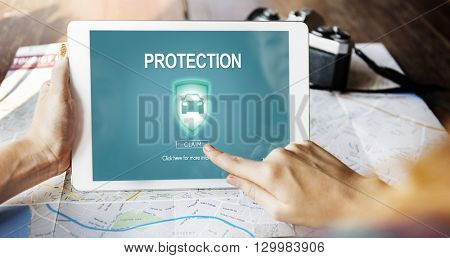Protection Privacy Policy Private Insurance Concept