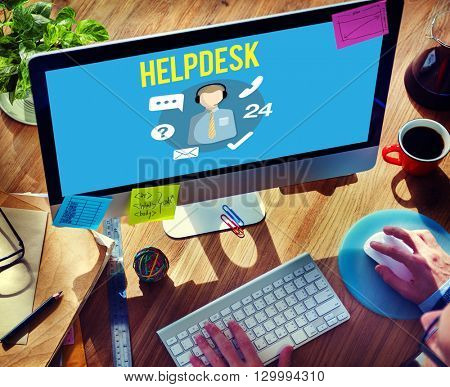 Helpdesk Customer Support Communication Enquiry Concept