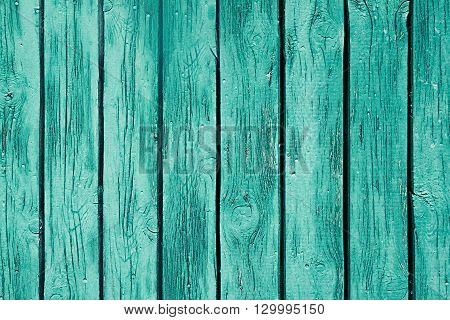 Vintage mint green wooden background. Old weathered green board. Texture. Pattern. Wood background.