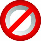 Prohibition restriction sign. Red no entry do not enter sign(s) on white. Caution warning keep away sign. poster