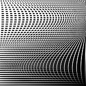 Distorted abstract grid mesh background. Intersecting lines abstract cellular grid pattern. Reticulated cellular texture. poster