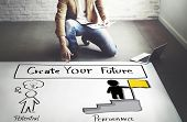 Create Your Future Aspiration Goals Concept poster