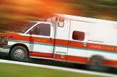 Ambulance Emergency Call. Speeding Ambulance Vehicle. Paramedics in Action. poster
