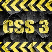 css 3, black and yellow rough hazard stripes poster