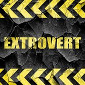 extrovert, black and yellow rough hazard stripes poster