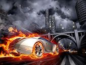 Burnout. Concept car. My own car design. Not associated with any brand. poster