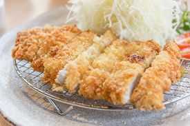 Breaded Pork Cutlet, Japanese Food Style Tonkatsu