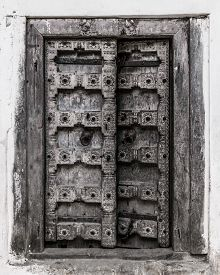 Traditional door in Stone Town on the island of Zanzibar