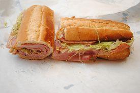 Takeout Deli Ham Sub Ready to Eat