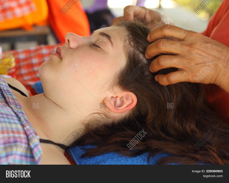 Massage teenager Frank Samaniego