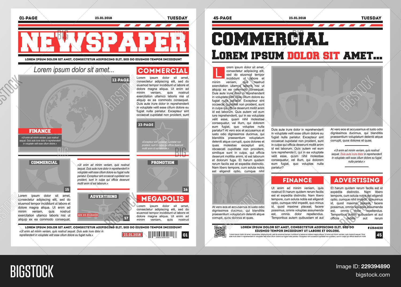 Design Daily Newspaper Image Photo Free Trial Bigstock