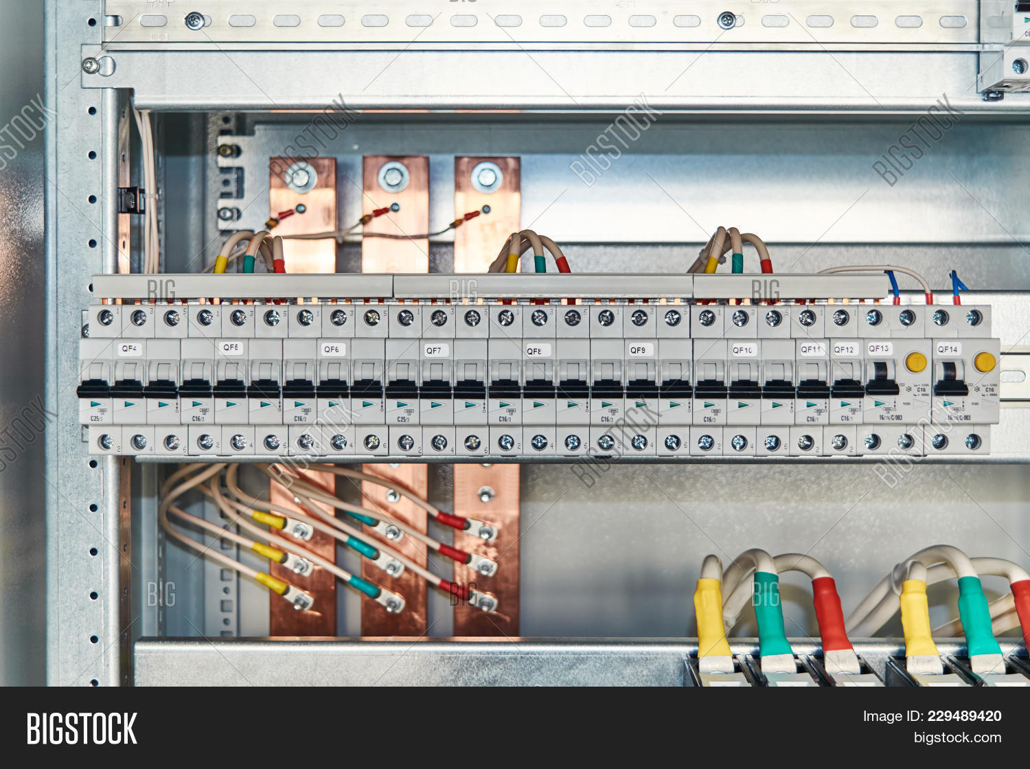 Modular Electrical Image Photo Free Trial Bigstock Circuit Breakers And Differential Switches In Cabinet Wire