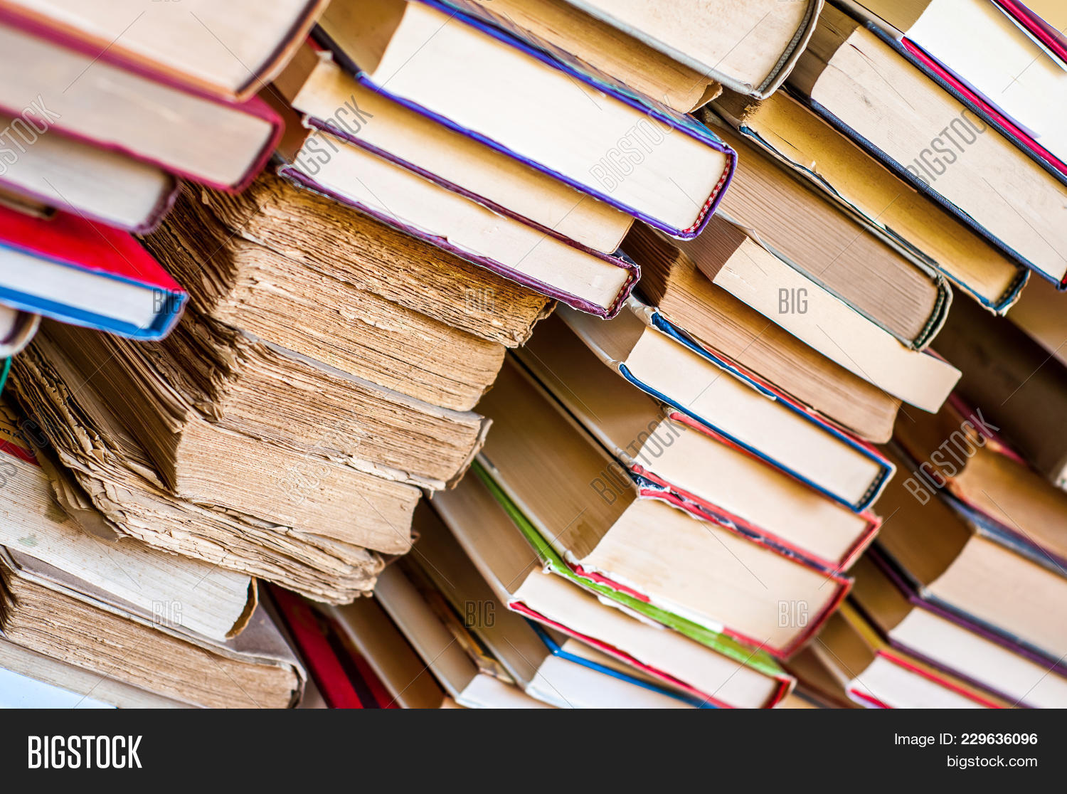 Old New Books Stacks. Colorful Book Image & Photo | Bigstock
