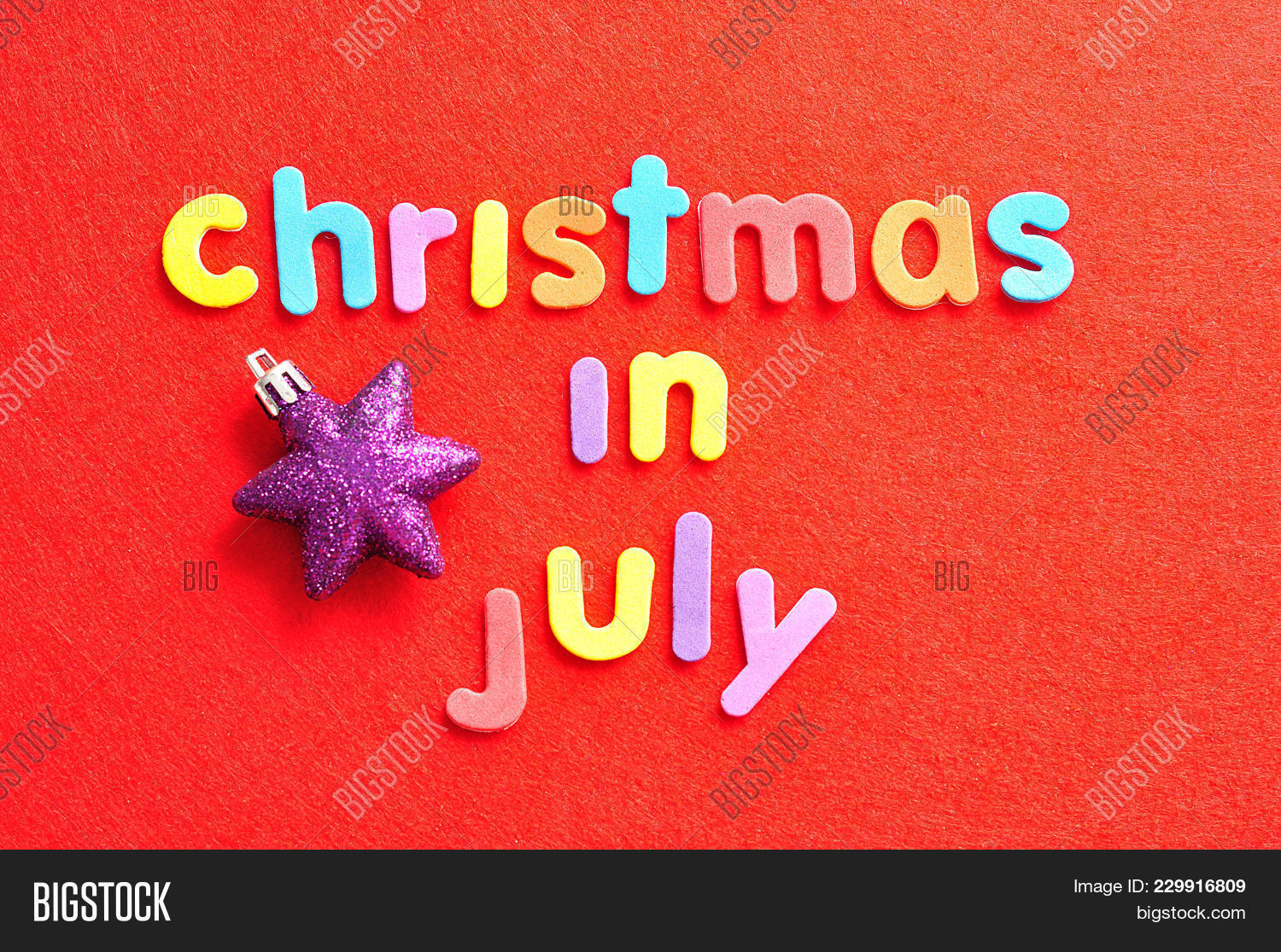 Christmas In July Background Images.Words Christmas July Image Photo Free Trial Bigstock