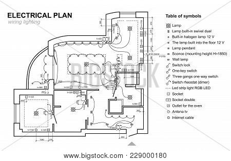 Plan Wiring Lighting Vector Photo Free Trial Bigstock