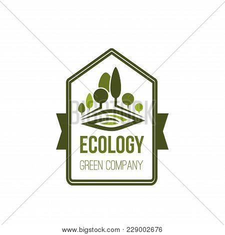 Green Ecology And Nature Environment, Icon For Outdoor Eco Landscaping Design And City Gardening Com