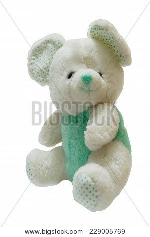 Little Bear Doll Isolated On White Background