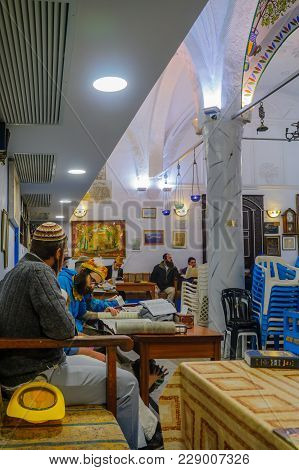 Purim 2018 In The Old Abuhav Synagogue, Safed (tzfat)
