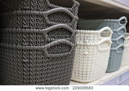 Decorative Objects Well Disposed In A Store Shelving