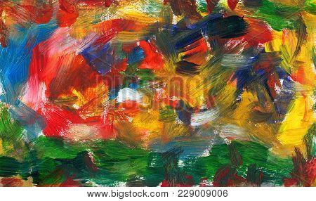 Abstract Blend And Tangle Of Strokes With A Brush
