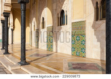 The Hassan Ii Mosque Is A Mosque In Casablanca, Morocco. It Is The Largest Mosque In Morocco And The