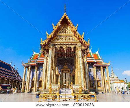 Wat Phra Kaew Temple Of The Emerald Buddha Is Regarded As The Most Sacred Buddhist Temple In Thailan