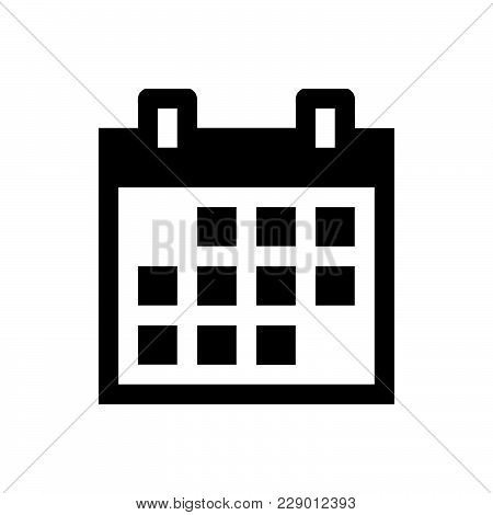 Calendar Icon Isolated On White Background. Calendar Icon Modern Symbol For Graphic And Web Design.