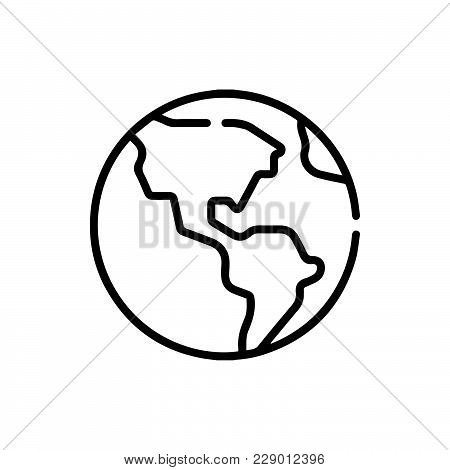 Earth World Icon Isolated On White Background. Earth World Icon Modern Symbol For Graphic And Web De