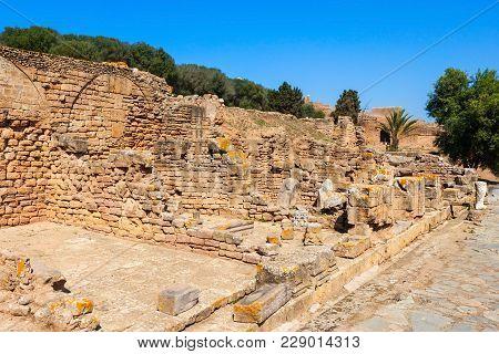Rabat Chellah Ruins. Chellah Is A Medieval Fortified Necropolis Located In Rabat, Morocco. Rabat Is