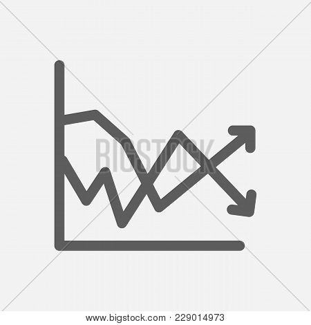 Volatility Icon Line Symbol. Isolated Vector Illustration Of  Icon Sign Concept For Your Web Site Mo