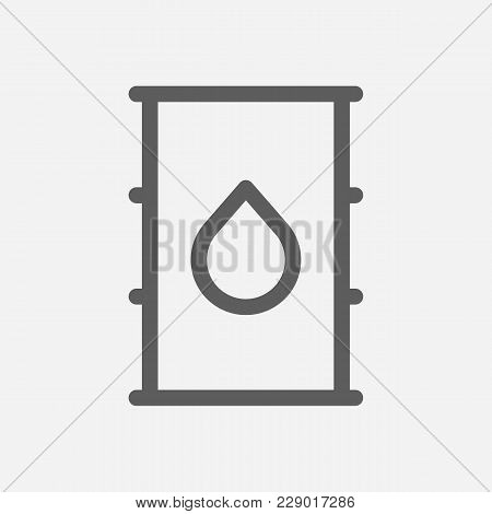 Petroleum Icon Line Symbol. Isolated  Illustration Of  Icon Sign Concept For Your Web Site Mobile Ap