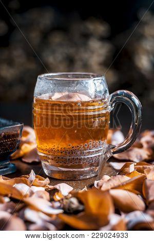 Popular Indian/asian Summer Drink I.e Nam Manglak Or Sweet Basil Drink Consisting Of Rose Syrup,swee