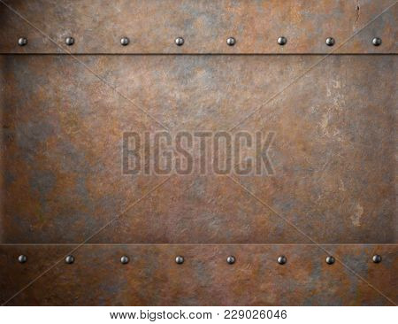 old rusty metal steam punk background