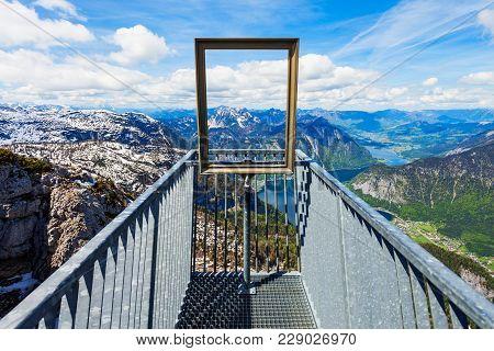 5 Fingers Is A Viewpoint Platform In The Dachstein Mountains On Mount Krippenstein, Upper Austria. F
