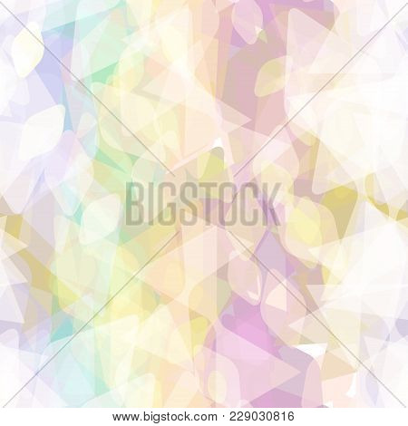 Abstract Geometric Seamless Pattern With Rhombus And Decorative Geometric And Contemporary Elements.