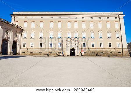 Residenz Palace On Residenzplatz Square In Salzburg, Austria. Residenzplatz Is One Of The Most Popul