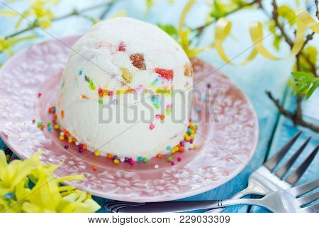 Pashka Curd Cheese Custard Dessert For Easter Holiday