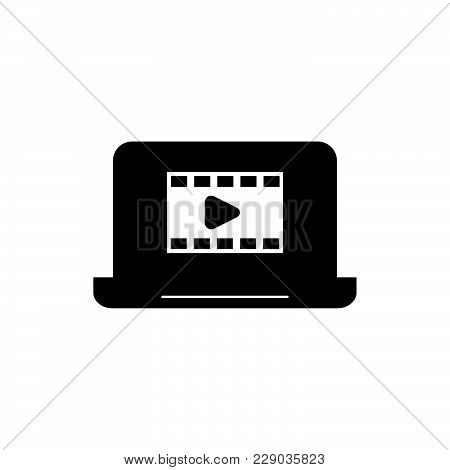 Video Icon Isolated On White Background. Video Icon Modern Symbol For Graphic And Web Design. Video